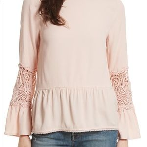JOIE Emelda Bell Sleeve Blouse Size Small